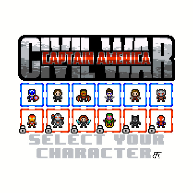 CAPTAIN AMERICA: CIVIL WAR SELECT SCREEN (TEAM CAPTAIN AMERICA)