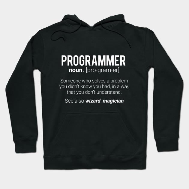 b58fead1 Funny Programmer Meaning Design - Programmer Noun Defintion Hoodie
