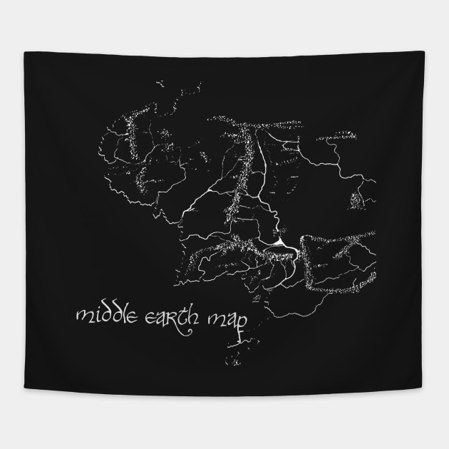 Middle Earth Map Lord Of The Rings Tapestry Teepublic