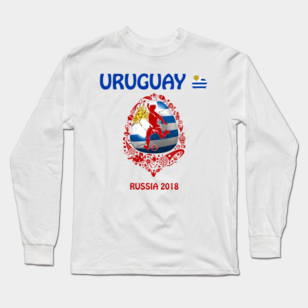 c5ed98fdfd1 Uruguay Uruguayan soccer team at the World Cup FIFA Russia 2018 Long Sleeve  T-Shirt