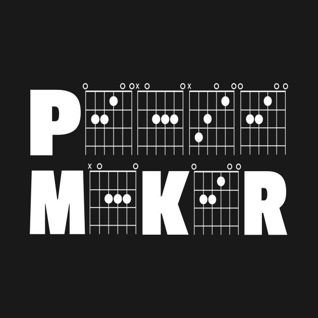Peace Maker in Guitar Chords - Guitar Chord - T-Shirt | TeePublic