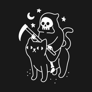 Death Rides A Black Cat t-shirts