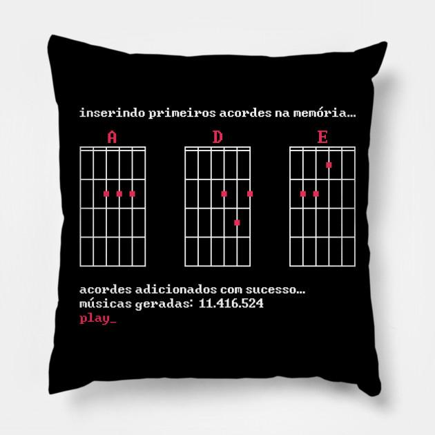 Three Magic Chords (red) - Guitar - Pillow | TeePublic
