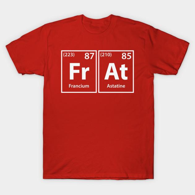 069c7107e Frat Elements Spelling - Frat - T-Shirt | TeePublic