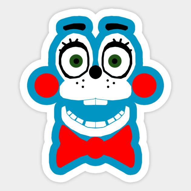 toy bonnie face bonnie sticker teepublic