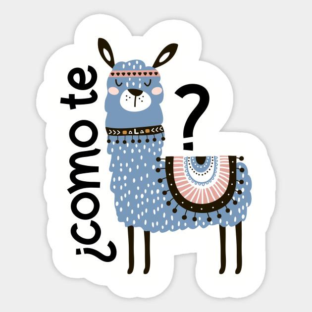 Como Te Llamas Blue Funny Llama