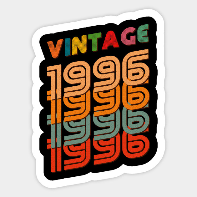 22nd Birthday Gifts Vintage 1996 For 22 Years Old Sticker