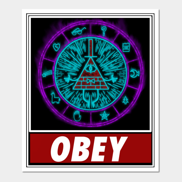 Gravity Falls- Bill Cipher Wheel Obey - Gravity Falls - Wall Art ...