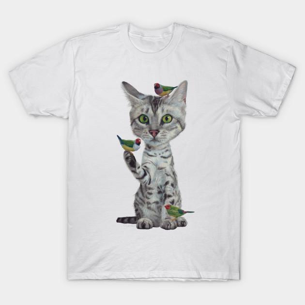 Bengal Cat Colorful Tee Shirt Bengal Cat Cool Tshirt