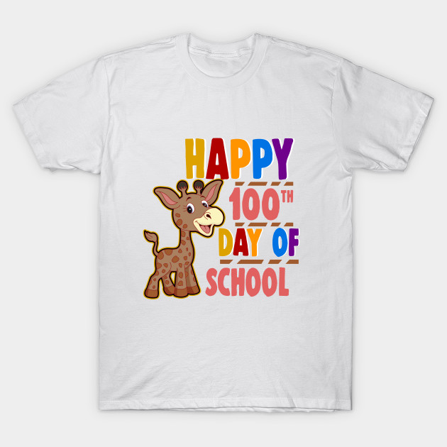 Happy 100th Day of School T,Shirt and Gifts for Teachers \u0026 Students to  Celebrate Achievement by arteez