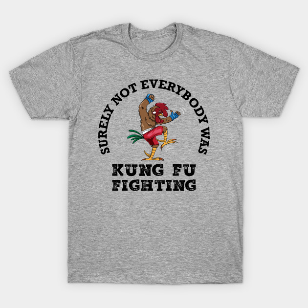 f9e4246b Surely Not Everybody Was Kung Fu Fighting - Funny T-Shirt - Surely ...