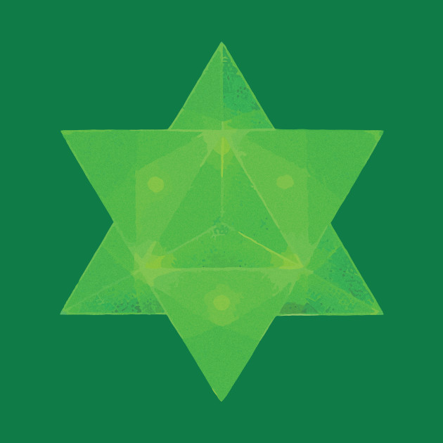 Emerald Tablets Inspired Merkaba Star Tetrahedron