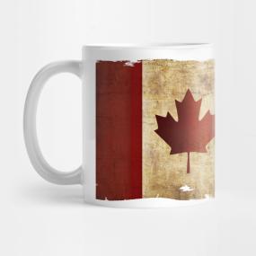 Flag of Canada / Grunge... Mug