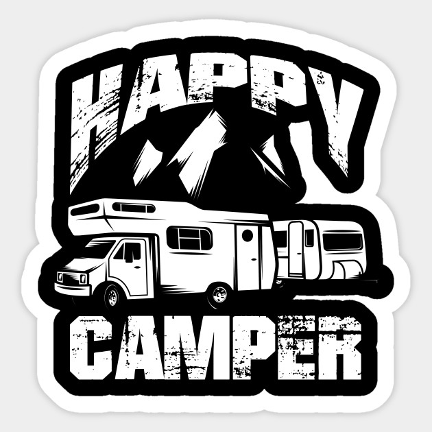 Happy Camper Gift Camping RV Travel Trailer