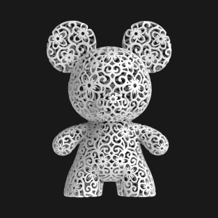 Mickey Sculpture (white) t-shirts