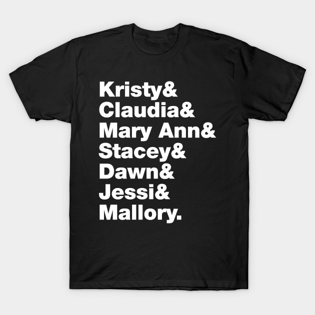 Babysitters Club Kristy Mary Ann Stacey Claudia Dawn Jessi Mallory Roll Call