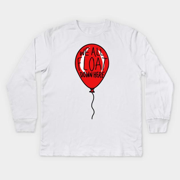 8d589b684ed5 IT we all float down here red balloon - Stephen Kings It - Kids Long ...