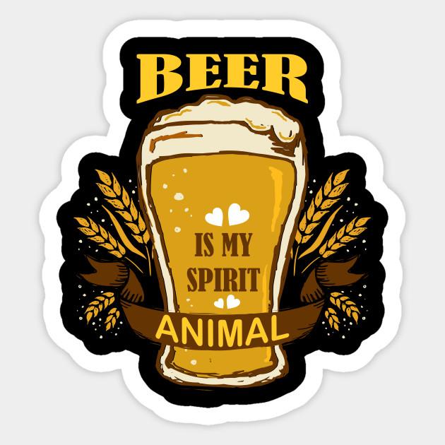 Beer Is My Spirit Animal Shirt Brewer