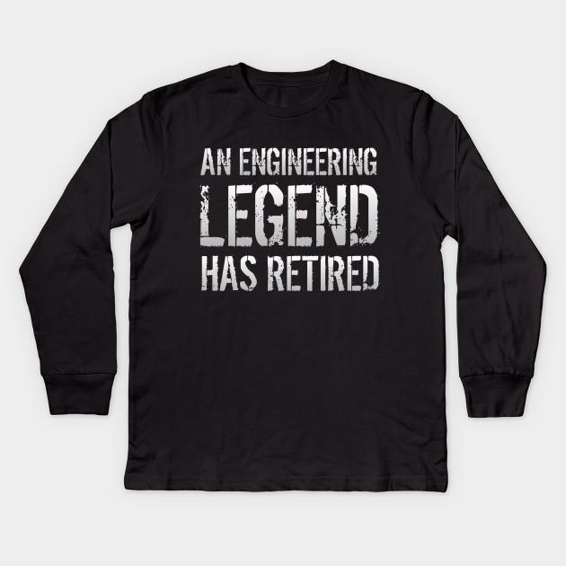 e6283ba7 Retired Engineer Retirement Gift For Men Women Kids Long Sleeve T-Shirt