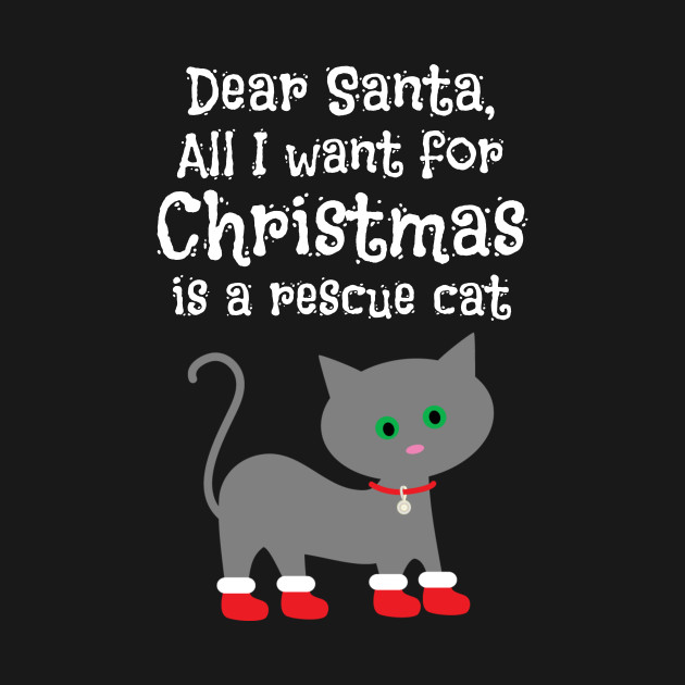 Rescue Cat for Christmas Cat Lover Gift
