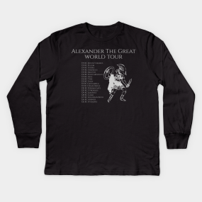 18eb8037 Alexander The Great Kids Long Sleeve T-Shirts   TeePublic