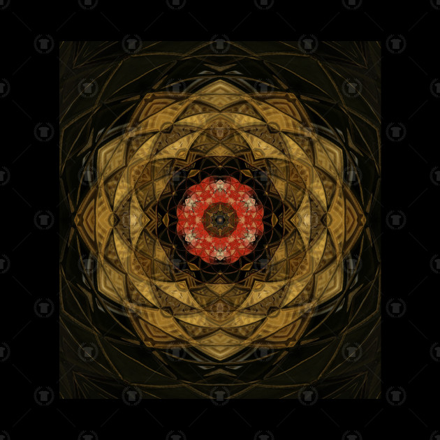 Red and Gold Kaleidoscope