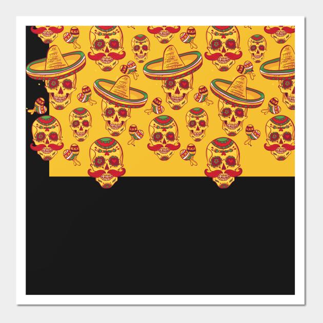 Sugar Skull Party - Sugar Skulls - Wall Art   TeePublic
