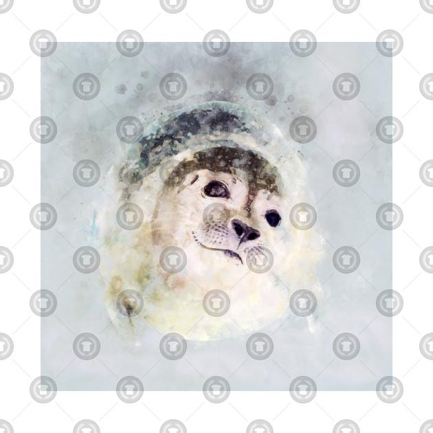 Watercolour seal