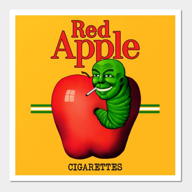 Red Apple Cigarettes - Red Apple - Wall Art | TeePublic