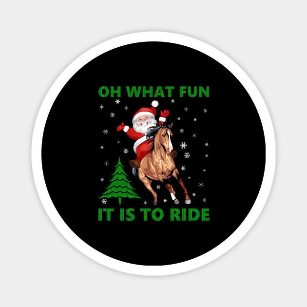 Funny Horse Rider Santa Claus Gifts Ugly Christmas Sweater Sweatshirt