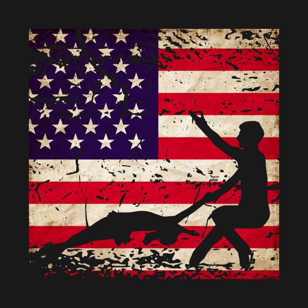 Pairs Figure Skating American Flag