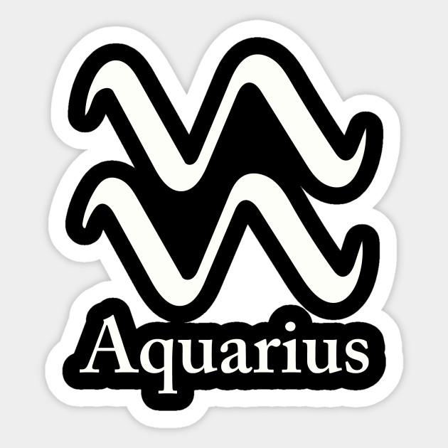 Aquarius Symbol Aquarius Sticker Teepublic