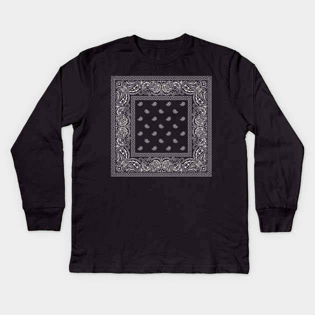 Black Bandana Pattern All Over Adult T-Shirt
