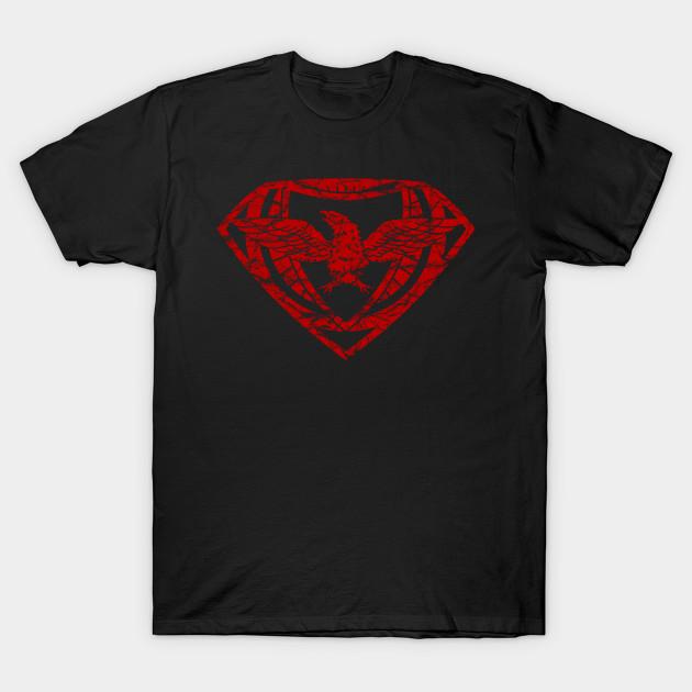 Eagleman Crest Red Futbol T Shirt Teepublic