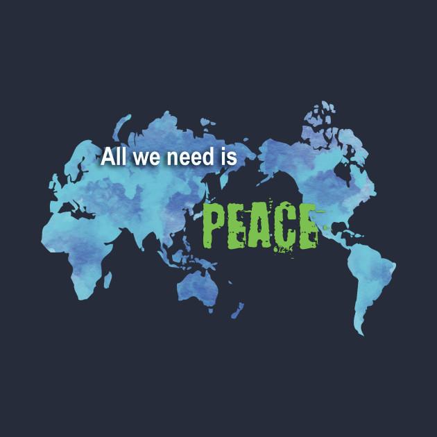 World peace world map peace t shirt teepublic world map peace t shirt gumiabroncs Images