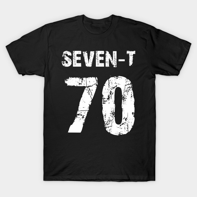 Number 70 Sports Fan Or Vintage Birthday Shirt T