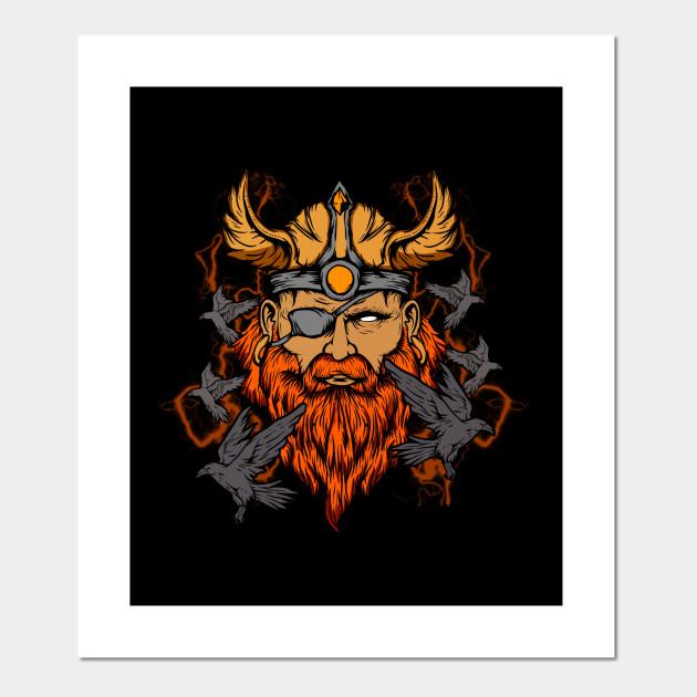 Odin the Norse Mythology Viking God & His Ravens - Odin ...