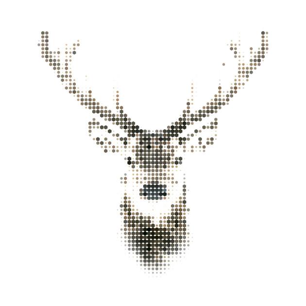Geometric Animal Deer Stag