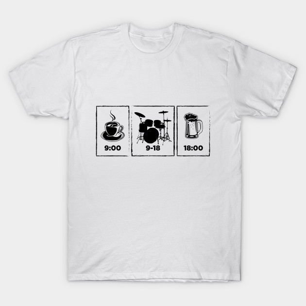 Playing drums   Drummer Funny T-Shirts