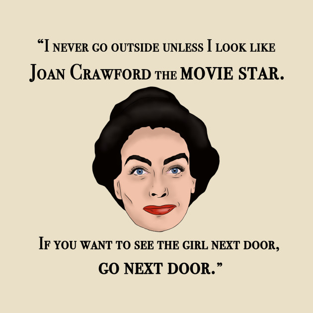 joan crawford inspired illustration mommie dearest