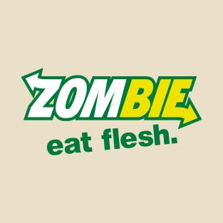 Zombie - Eat flesh t-shirts