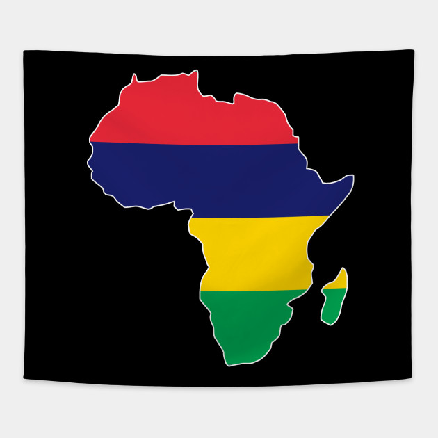Mauritius Pride Mauritius Flag Africa Map I Love Mauritius Flag