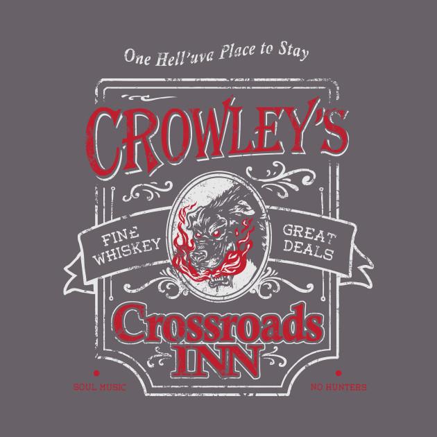 58009a4c64 Crowley's Crossroads Inn - Hellhound - T-Shirt | TeePublic