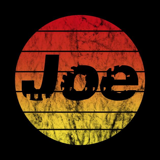Name Joe in the sunset vintage sun