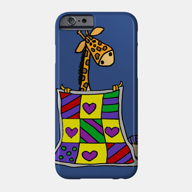 Funny Giraffe Quilting Cartoon Quilter Phone Case Teepublic