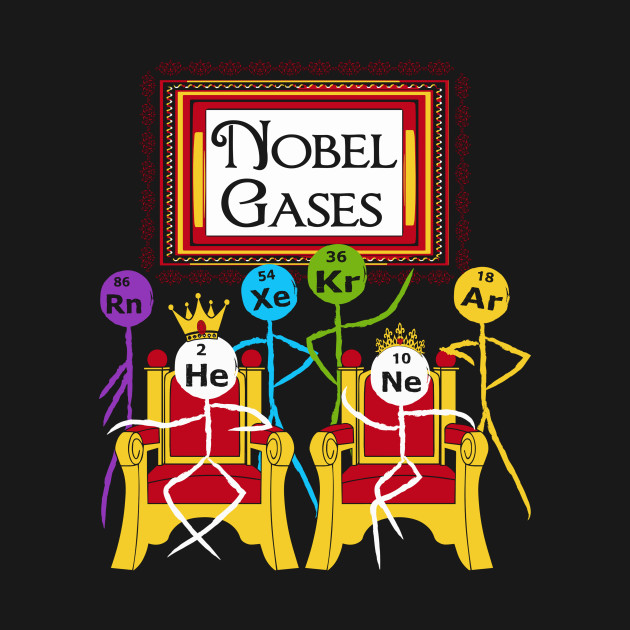 Funny noble gases t shirt science puns periodic table geek noble 1076308 1 urtaz Gallery