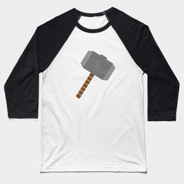 Thors Hammer Symbol Thors Hammer Baseball T Shirt Teepublic