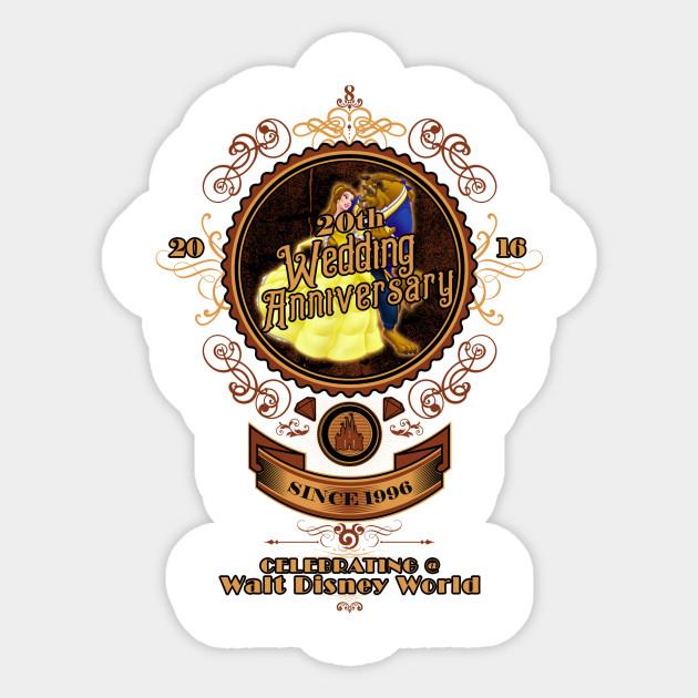 20th Wedding Anniversary Wedding Sticker Teepublic