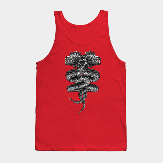 6a634fa578497d Quetzalcoatl ( flying snake of Aztec ) - Snake - Tank Top