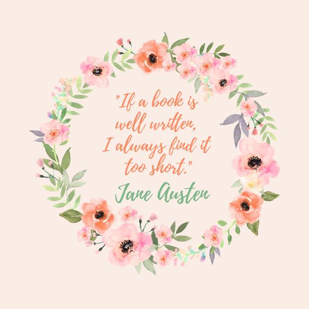 Jane Austen Quote Books Pillow Teepublic